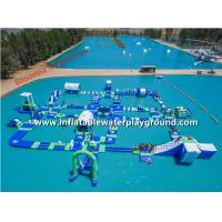Giant Lake Inflatable Water Parks Rentals , Inflatable Water Amusement Equipment