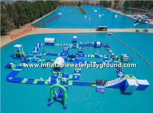 China Giant Lake Inflatable Water Parks Rentals , Inflatable Water Amusement Equipment on sale