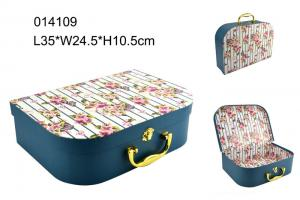 China High End Handle Cardboard Suitcase Gift Box Fashion With Cmyk Printing on sale
