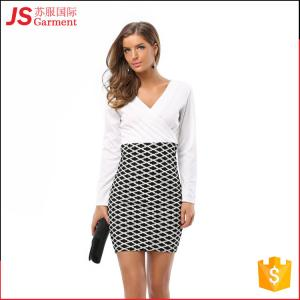 China 209012 Wholesale Cheap Formal Office Wear Dress for Ladies Women on sale