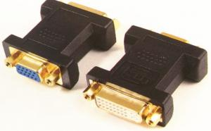 China DVI Female To VGA Female Converter And Adapter With Wide Compatibility on sale