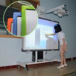 82 whiteboard interactivo de escritura del tacto 10 del IR 32 de la pulgada para la sala de clase elegante