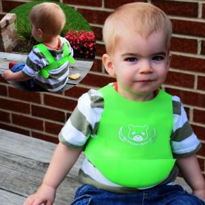China Free sample hot sell silicone baby bib with pocket cheap price on sale