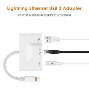 China Portable Lightning Adapter Converter , Lightning To Usb 3 Ethernet Camera Reader on sale