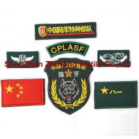 China Customized military style embroidery hook loop Patch/ badge/armband on sale
