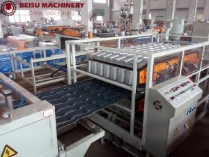 China Simple Operation Plastic Sheet Extrusion Machine , PVC Sheet Making Machine Big Intensity on sale