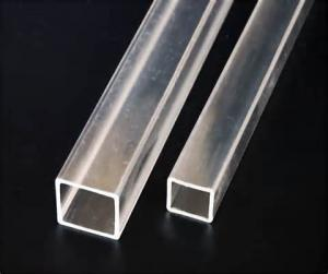 China Transparent Square Extruded Acrylic Tube Clear Plexiglass Square Tubing For Packing on sale