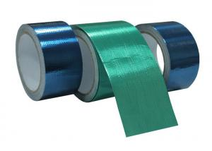 China Green And Blue Tarpaulin Repair Tape / Waterproof Joining Tarp Glue Tape on sale