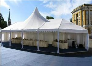 China Luxury Custom High Peak Tent Flame Retardant Blackout Double PVC Coat For Parties on sale
