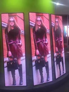 China Vivid Video Mirror Display HD Led Poster Portable 1000 Nits Front Access on sale