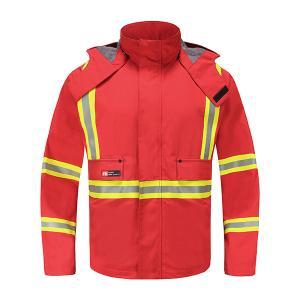 China EN343 Chemical Protective Clothing 4.8OZ Nomex Fire Retardant Work Jacket on sale