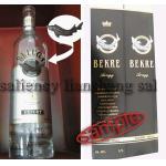 Etiqueta de la botella, botella Pacaging, vino, whisky, brandy