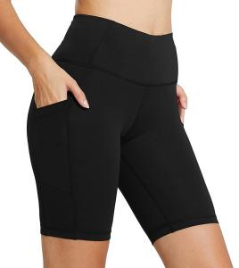 China Tight Athletic Workout Shorts, Womens Compression Leggings High Rise on sale