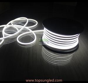 China 50m 12v 24v micro 7*15mm high lumen white milky Jacket Mini Led Flex Neon 10cm cuttable Flexible LED Neon Rope on sale