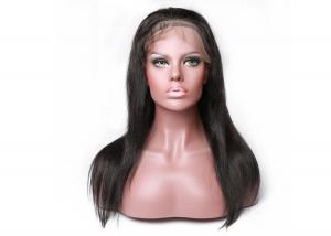 China Full Cuticle Human Lace Front Wigs , 150% Density Soft 26 Inch Lace Front Wig on sale