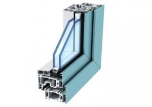 China Anodized Aluminum Door Extrusions / Double Layer Tempered Glass Aluminum Structural Framing on sale