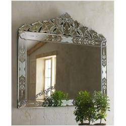 Hanging Large Venetian Wall Mirror Etching Flowers Bridal Wedding Design Mirrorfurnitureset