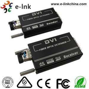 Quality Mini 4K * 2K DVI Fiber Transceiver  SM10-80KM  Default 1.4km , EDID Support, 1 SFP + Port for sale