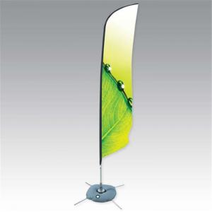 China Display Outdoor Flying Banners Stand Single / Double Sides With Dye - Sublimation Printing on sale