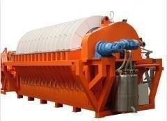 China Iron Ore Slurry Rotary Disc Filter , Vacuum Filtration System Energy Saving on sale