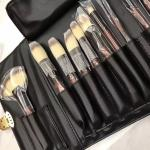 Cosmetic Makeup Brush Set 26 Pcs High Grade PU Bag Brown Handle Color