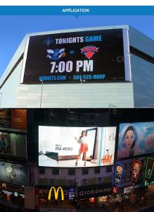 China Anti - Wind Grid Billboard Advertising Led Display Screen 6000 Nits 1R1G1B on sale