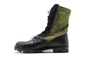 China 9 Inches Male Black Leather Military Jungle Boots High Molding With Breathable Mesh on sale