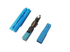 China Multimode SC Fiber Optic Connector Assembly with Polished Fiber Ferrule on sale