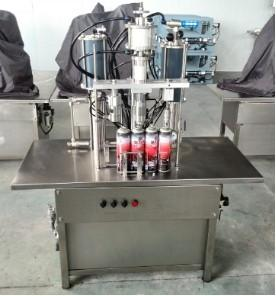 China QGB-900C Semi-automatic Aerosol Filling Machine on sale