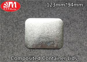 China Paper / Aluminium Foil Container Lid 60-120 Micron Thickness FDA Certificated on sale