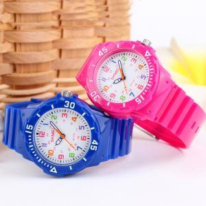China Pink Plastic Quartz Watch For Woman / Children , Automatic quartz watches on sale