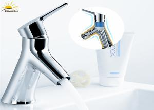 China Unique Dual Water Pipe Bathroom Basin Mixer Taps For Wash Basin on sale