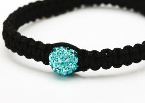 "China Custom clear shamballa bead bracelet crystal jewelry 3.15 ""diameter for women on sale"