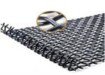 Heavy Duty Crimped Woven Wire Mesh Mining Sieve With Hooked Strong Tensile Strength