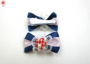 China Cute Dog Decorative Fabric Ribbon Hair Clips Pretty Hair Accessories on sale