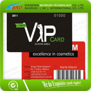 China Color Printed Magnetic Stripe Barcode Card-Highly Glossy on sale