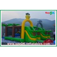 0.55mm PVC Inflatable Bounce , Logo Printing Inflatable Bouncy Castle