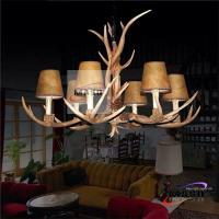 LED energy Saving E14 Candle Bulb Retro Antler Chandelier MS-P2008 Cloth Cover