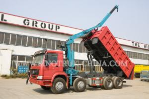 China LHD 371HP 8×4 Tipper Truck Mounted Crane XCMG12 Tons For Traffic Accidents on sale