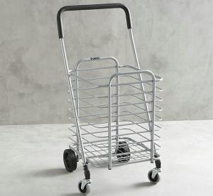 China Powder Coated Metal Display Stands , Foldable Shopping Cart on sale