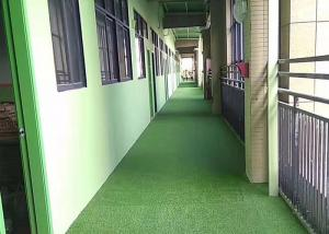 China Office / Home Fake Grass Carpet , High Abrasion Resistance Artificial Grass Mat on sale