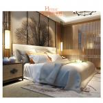 Hardwood + Plywood Hotel Queen Size Furniture in Beds , Bedroom Set , Headboard