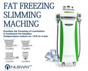 China 5 In 1 Cryolipolysis Weight Loss Machine/Lipo Laser Fat Freezing Machine/Cavitation RF on sale