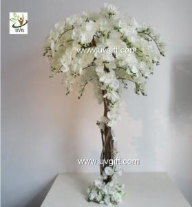 China UVG CHR124 Wedding Stage Decoration Life size Silk Orchids Artificial Tree Centerpiece on sale