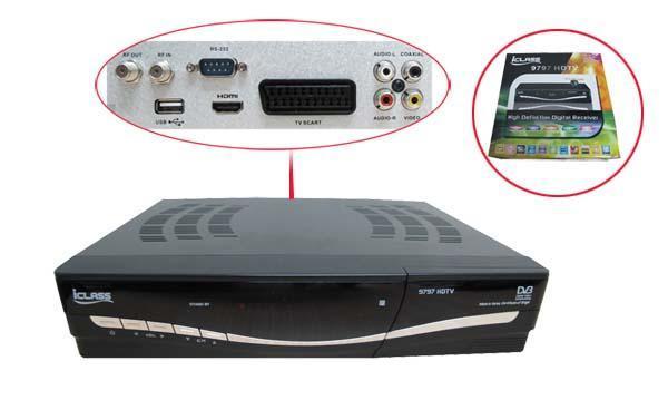 iClass 9797 HDTV MPEG-4 H  264 DVB-S2 FTA HD Receiver (HW