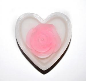 China heart flower led candle,Heart Shaped LED candles,wedding decoration candles,flower candle, on sale