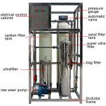 1000lph - 100000lph Water Purification System , Mineral Ro Water Purifier Plant