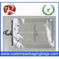 Custom Printing Clear EVA / PVC Hook bag / Hanger Packing Plastic Bag For Clothes