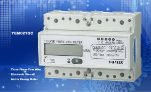 China Ligth Weight 35mm Din Rail KWH Meter / Digital Meter Direct Mode With PC Material on sale
