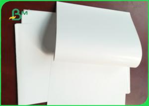 China 90gsm 128g Glossy White Couche Paper / Plain C2S Art Paper In roll on sale